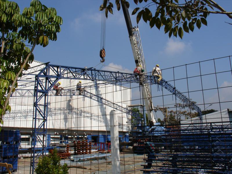 Construção modular de galpão