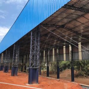 Construção de galpão estrutura metálica