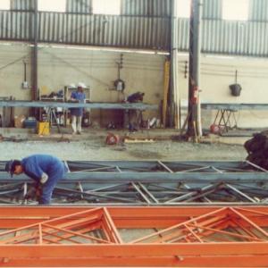 Construção de galpão metalico